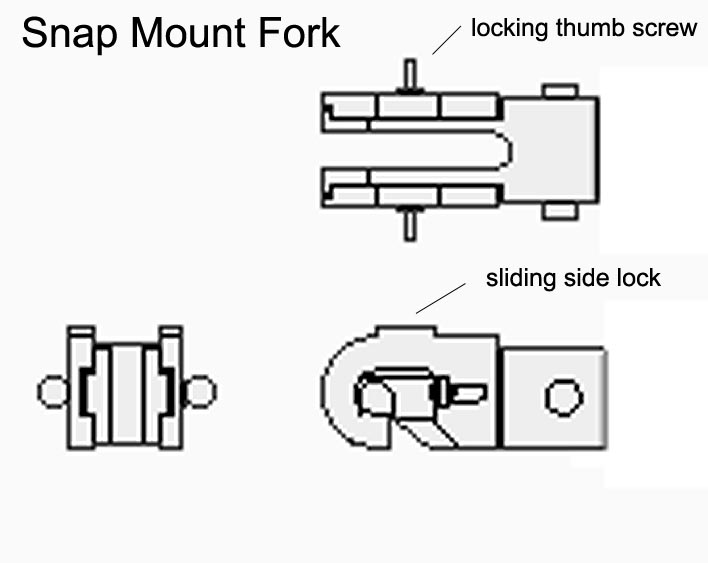 Snap Mount Fork